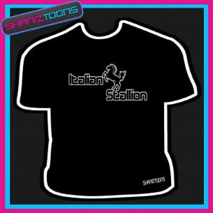 ITALIAN STALLION ROCKY RETRO COOL SLOGAN TSHIRT